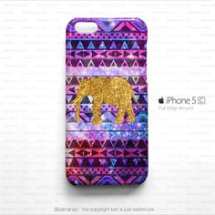 Elephant Aztec Galaxy Pattern iPhone 5c Case    Iphone cases and covers