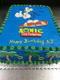 Sonic the Hedgehog Cake www.GGCupcake.com