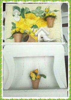 Quadro Cenario Jardim Yellow Flowers
