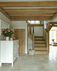 A lovely barn conversion. Our door furniture features. Pewter door hinges and cu… A lovely barn conversion. Our door furniture features. Pewter door hinges and cu…,Hallway ideas A lovely barn conversion. Our door furniture. House Design, House, Interior, Home, House Plans, House Styles, New Homes, House Interior, Cottage Interiors