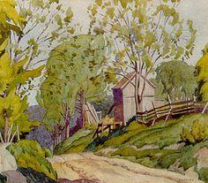 Spring Lasky - note card - A. Group Of Seven Artists, Group Of Seven Paintings, Canadian Painters, Canadian Artists, Nature Paintings, Landscape Paintings, Franklin Carmichael, Summer Landscape, Native Art