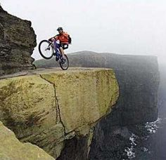 The most terrifying mountain bike trail on earth, the spectacular Cliffs of Mohair, hug the western Irish coast, towering up to 702 feet (214 meters) above breaking Atlantic Ocean waves.