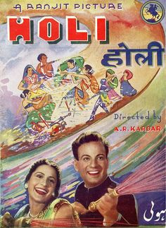 #Holi is a 1940 Hindi/Urdu social drama film directed by A. R. Kardar. Holi was produced by Ranjit Movietone and had music composed by Khemchand Prakash with lyrics by D. N. Madhok. It had Khursheed and Motilal starring in the lead with Sitara Devi, Ishwarlal, Keshavrao Date, Dixit, Ghory and Manohar Kapoor.  With two love stories as a format, the film pits the rich against the poor, in the shape of two pairs of lovers; a poor-girl-rich-boy, and a rich-boy-poor-girl.