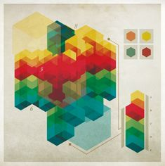 Chad Hagen a réalisé cette série d'infographies qui font passer la forme avant le fond.