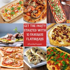 Get the Party Started with 10 Fabulous Flatbreads #SundaySupper. Visit www.sundaysuppermovement.com for recipes and tips for bringing your family back to the dinner table.