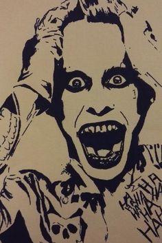 Original The Joker, Drawing, Stencil, Stencil Art, Art,Joker, Suicide Squad, Fan…