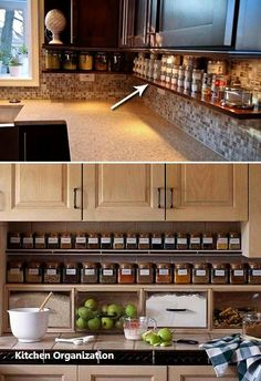 Supreme Kitchen Remodeling Choosing Your New Kitchen Countertops Ideas. Mind Blowing Kitchen Remodeling Choosing Your New Kitchen Countertops Ideas. Kitchen Redo, Kitchen Dining, Kitchen Small, 1970s Kitchen, Kitchen Pantry, Kitchen Cupboards, Ranch Kitchen, Kitchen Spice Storage, Kitchen Hacks