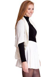 Fur-Trimmed Knit Sweater Cardigan #furtrim #knit #sweater #cardigan #winterfashion