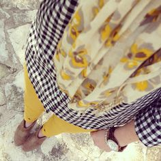 Spring Fashion Outfit Idea - Golden Gingham
