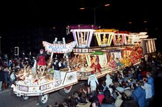 "Ramblers CC with ""Oriental Magic"" at Bridgwater Carnival 1987. Somerset, UK."