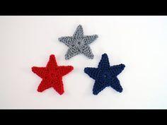 Crochet Star Applique - B.hooked Crochet