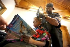 Children who read books to a local barber have received a free haircut as part of a community event in Dubuque to help families prepare for the upcoming school year. Barber Courtney Holmes traded the tales for trims on