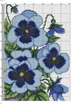 Blue Flowers 4/6