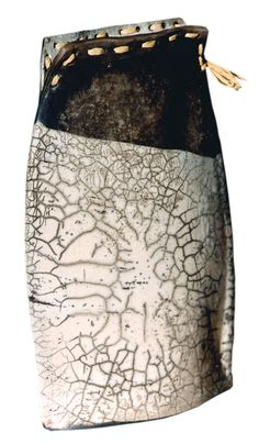 raku glaze. love the mixed media used