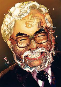 Hayao Miyazaki (by c3nmt)