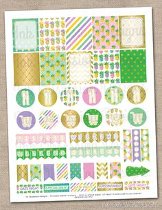 Ink Obsession Designs: New Printable Planner Sticker Sets