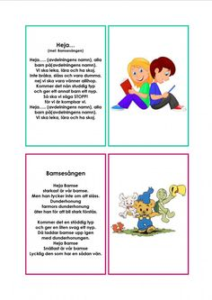 Mariaslekrum - Illustrerade sånger. Sign Language Book, Learn Swedish, Swedish Language, Educational Activities For Kids, Music Classroom, Kids Corner, Kids Songs, Pre School, Kids And Parenting