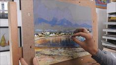 démonstration d'un paysage au pastel par Nathalie JAGUIN, artiste peintr...