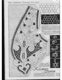 View album on Yandex. Freeform Crochet, Crochet Motif, Crochet Designs, Crochet Lace, Crochet Patterns, Bobbin Lace Patterns, Bead Embroidery Patterns, Beaded Embroidery, Bruges Lace