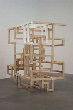 Stone - Constructive failures II by Damián Ortega Damian Ortega, Geometric Sculpture, Canopy Architecture, Outdoor Chairs, Outdoor Decor, Paintings For Sale, Art World, Wood Art, Modern Art