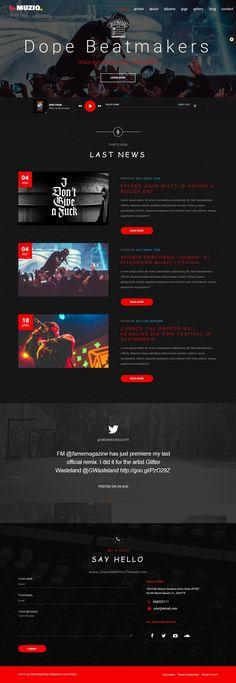 Muziq is beautifully design perfect #WordPress #theme for music bands, #singers and artist website with 4 stunning homepage layouts download now➯ https://themeforest.net/item/muziq-music-band-musician-wordpress-theme/16339408?ref=Datasata
