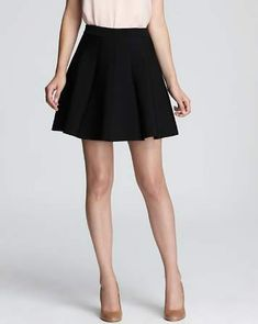 Parker - Skirt - Zoey Pleated - visit to buy A Line Mini Skirt, A Line Skirts, Mini Skirts, Black Skater Skirts, Black Pleated Skirt, Fit And Flare Skirt, Dresses Online, Outfits, Clothes