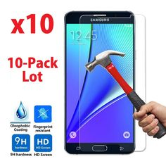 10x Wholesale Samsung Galaxy Note5 Tempered Glass Screen Protector,  #UnbrandedGeneric