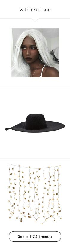 """witch season"" by si-na-y ❤ liked on Polyvore featuring accessories, hats, headwear, wide brim hats, rabbit fur hat, rabbit hat, wide brim floppy hat, flop hat, fillers and home"