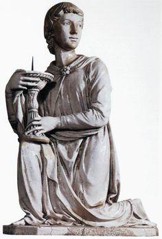 Luca della Robbia, Candelabrum-Bearing Angel 1448 Glazed terracotta, 84 x 57 cm Duomo, Florence