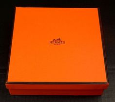 Hermes Empty Box with Tissue 8 x 8 x 2.75 Scarf Box #Hermes