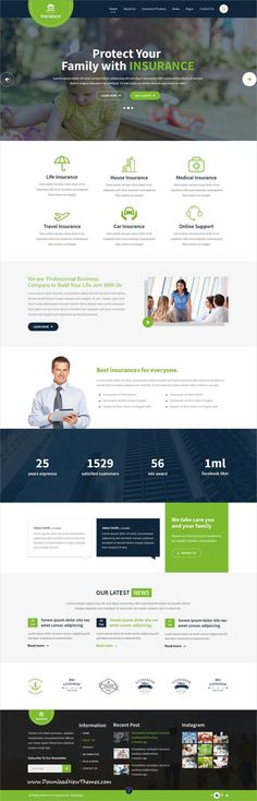 Buy Insurance / Business PSD Template by DesignLight on ThemeForest. Insurance : Insurance / Business PSD Template Insurance is a clean PSD theme suitable for Insurance Agency, Insurance. Best Insurance, Insurance Agency, Insurance Business, Insurance Website, Printed Portfolio, Life Car, Business Company, Website Design Inspiration, Web Layout