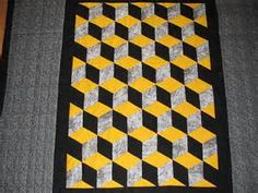 yellow blocks quilt - Bing images