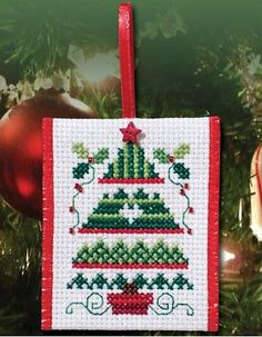 Christmas Tree (E-Delivery) – Stoney Creek Online Store Cross Stitch Christmas Ornaments, Xmas Cross Stitch, Xmas Ornaments, Christmas Cross, Cross Stitching, Cross Stitch Embroidery, Christmas Tree, Hand Embroidery, Christmas Sewing
