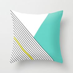 MINIMAL COMPLEXITY pillow by Three Lives Left