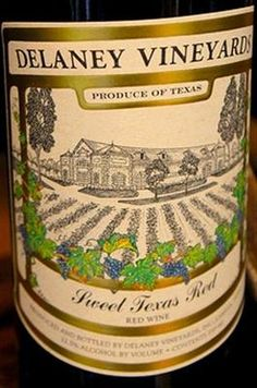 it is sweet, it comes from Texas, and it is red. Don't expect much more. - Delaney Vineyards, Sweet Texas Red, Red [Blend] (N.V.)