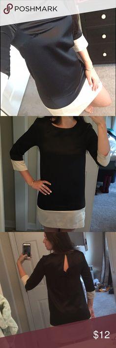 H&M Black & Cream shift dress Size 6 H&M black and cream shift dress, size 6 but fits more like a 4. Only worn twice! H&M Dresses
