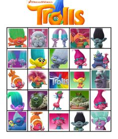free printable trolls party activities