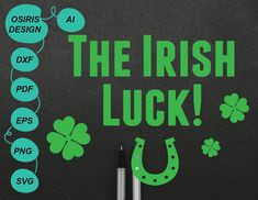The Irish Luck . St Pattys, St Patricks Day, Luck Of The Irish, Scrapbook Pages, Stationery, Invitations, Shop, Etsy, Design