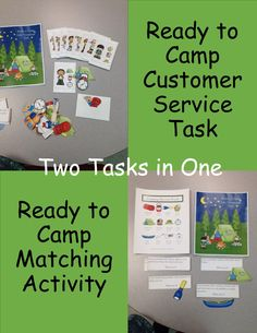 Ready to Camp is a task to help students learn to make purchases and for description recognition.