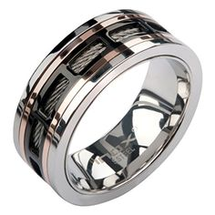 Inox Jewelry Stainless Steel Rose Gold Window Spinner Ring (Black, Size 9) INOX http://www.amazon.com/dp/B00PG6K4GS/ref=cm_sw_r_pi_dp_VN3Fub0G250H0