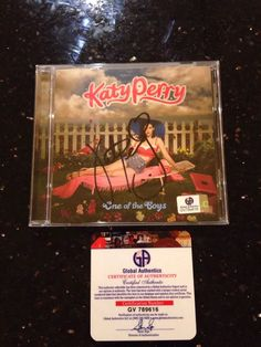 Katy Perry Signed Autographed One Of The Boys cds W/GAI