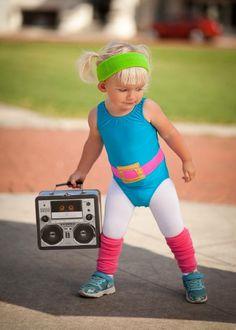 DIY 1980's toddler workout girl