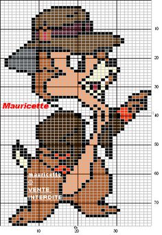 Chip 'n Dale Rescue Rangers perler bead pattern by Mauricette