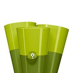 Emsa 515355 Trio Kräutertopf für frische Kräuter, Selbstbewässerung, Wasserstandsanzeiger, 27 x 25 x 21 cm,  http://j.mp/TrioKräutertopf