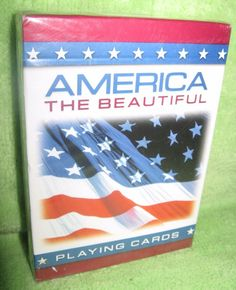 America The Beautiful Bicycle Playing Cards New in Package #Bicycle