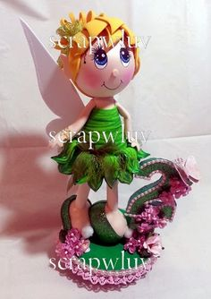 Scrapwluv Creations: Tinkerbell Cake Topper Fofucha Doll and Pattern