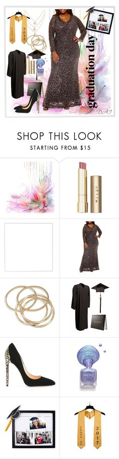 """""""Graduation outfit (plus size)"""" by divina-beyond ❤ liked on Polyvore featuring Stila, Menu, Blue Sage, ABS by Allen Schwartz, Cerasella Milano, New View, Graduation and plus size dresses"""