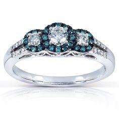 Blue diamond halo
