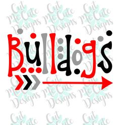 SVG DXF PNG cut file cricut silhouette cameo scrapbooking Bulldogs by CutMeCuteDesigns on Etsy