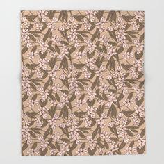 Sakura pattern throw blanket by @Olooriel on Society6 #sakura #throwblanket #blanket #society6